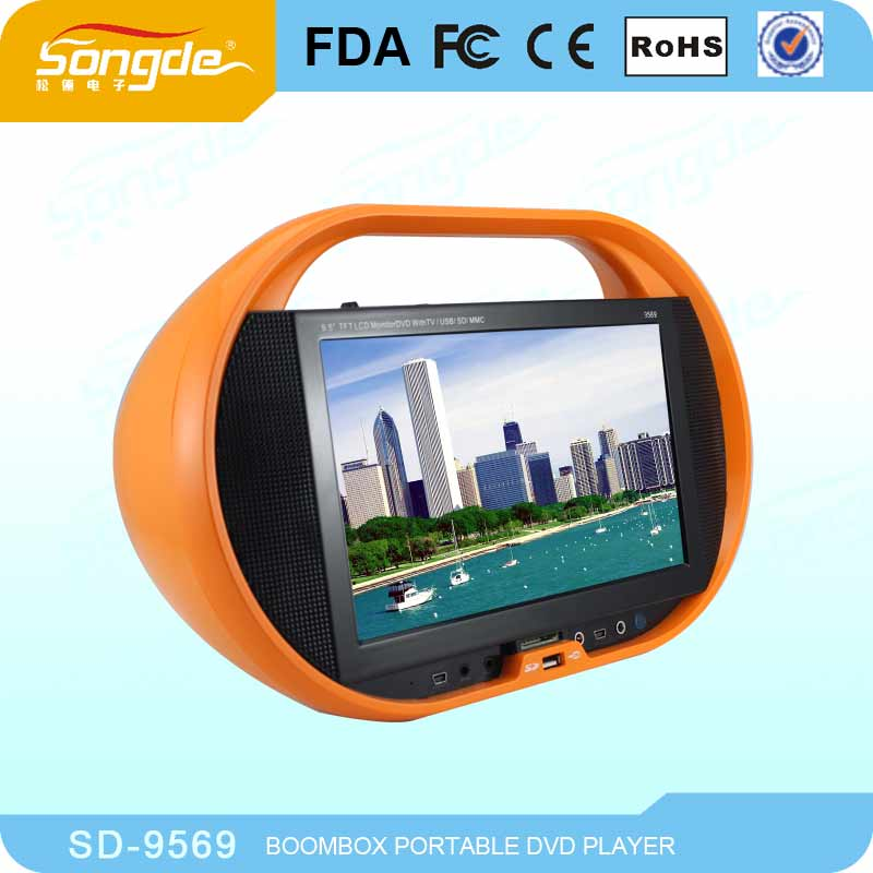 Wholesale price 9.5inch portable dvd player with av input