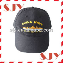 Promotional fashion embroidery royal navy baseball caps