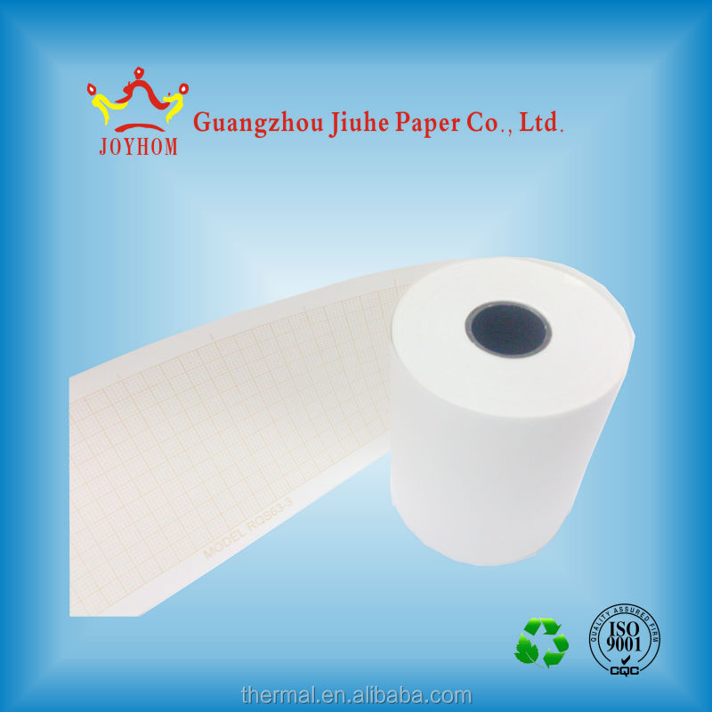 Good quality 110mm*140mm medical folding paper, thermal z fold ECG paper sheets