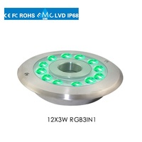 Dmx512 controller led underwater light ip68 for swimming pool with CE& ROHS