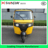 Covered 3 wheel motorized tricycle for passenger motorcycle HOT!!!