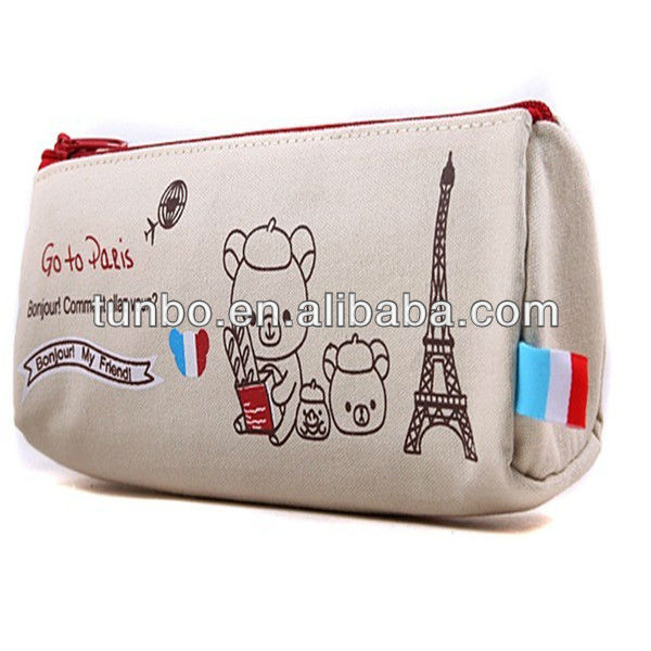 Cute zipper pencial case school pen bag pencil pouch