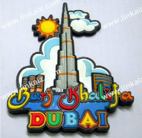 dubai tower fridge magnet souvenir/rubber fridge magnet travel on dubai tower