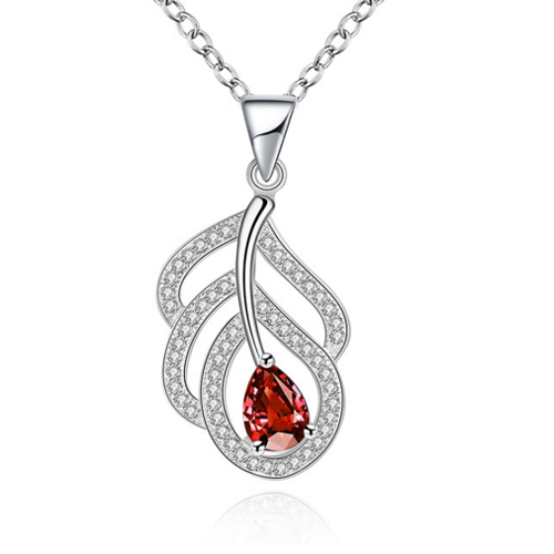Inexpensive But Nice Quality With Red Stone Necklace Jewelry For Women