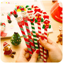 2015 Christmas Gifts Kawaii Pen with cane fimo polymer clay cute pen Father Christmas ballpoint pens