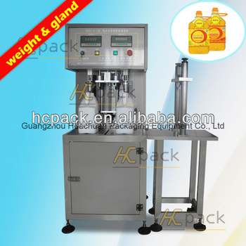 Double-heads Semi-automatic Apple juice Weight filling machine