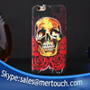 Fashion colorful CrossBones Skull Heads flower Luminous back cover hard PC case for iphone 6 6plus