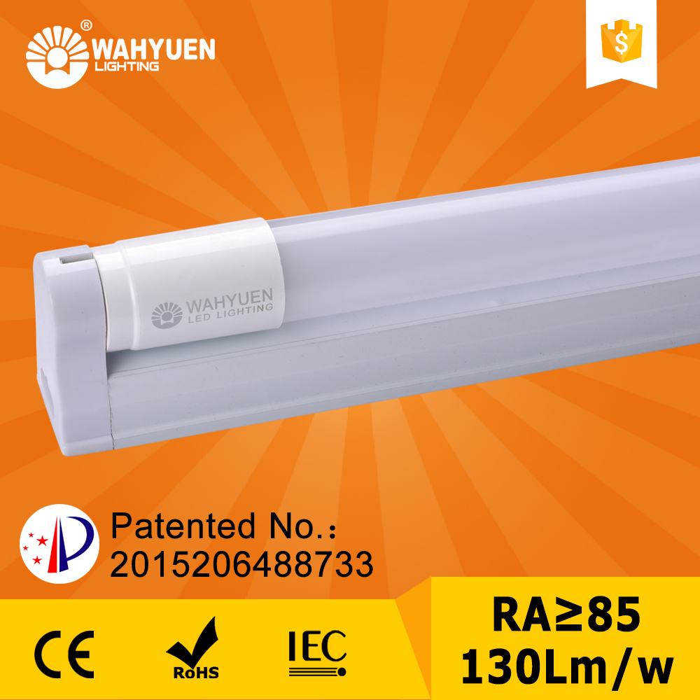 free sample 130 lux 18w PC t5 fluorescent tube for light box with ce rohs iec t8 led tube light