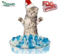 soft silicone materials pet bowl silicone slow feeder