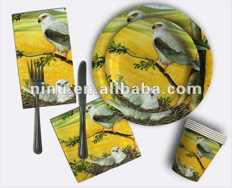 YLNL120_002 disposable paper plate,bird paper plates