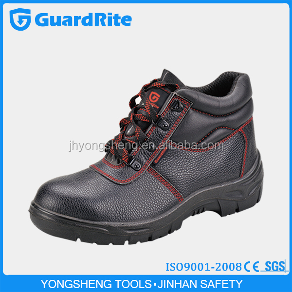 GuardRite Brand Hot Selling Leather Rubber Construction Safety Shoes Boot,Cheap Construction Safety Shoes