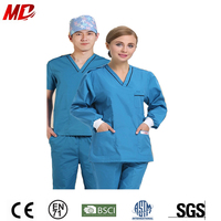 Cotton Material Medical Scrubs China medical scrub suit design Operation Wear