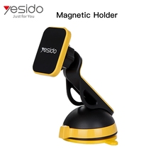 Yesido Wholesale free samples+car mount magnetic holder 360+car mobile phone holder rotating magnetic