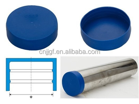 Plastic end protection cap for cast iron pipe carbon