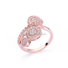 Top Sale!! Rose Gold Painting Elegant indian rings