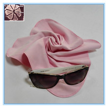 round edge pink microfiber towel,microfiber cleaning cloth,glasses cleaning cloth