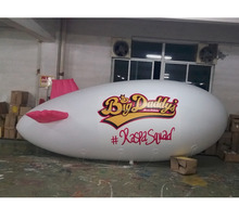 arge Inflatable Airship For Promotion / Inflatable White Blimp
