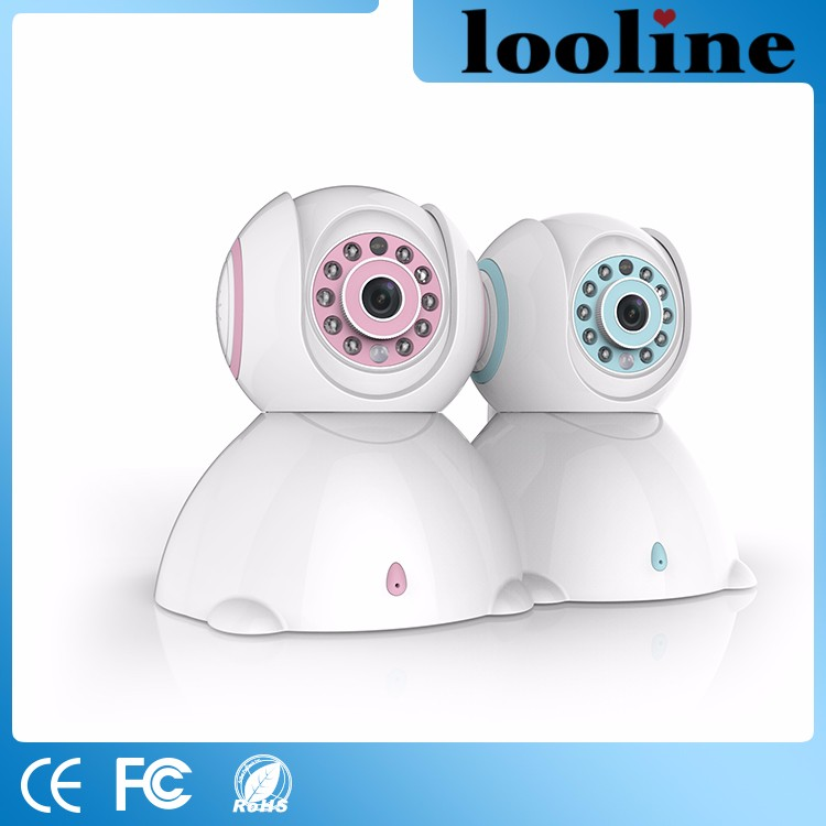 Looline Best Indoor Wifi Wireless Built-In Speaker And Microphone 1.0MP APP Control 720P IP Camera