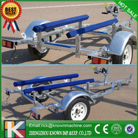 Galvanized steel Jet boat trailer single jetski trailer with roller