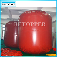 Collapsible and soft pvc methane storage tank
