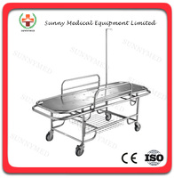 SY-R030 Cheap Hospital Stainless steel Manual emergency bed for sale