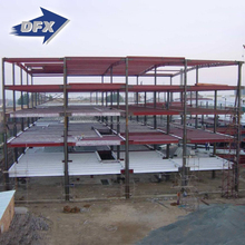Prefabricated Light Steel Roof Structure Frame Market Shed Buildings