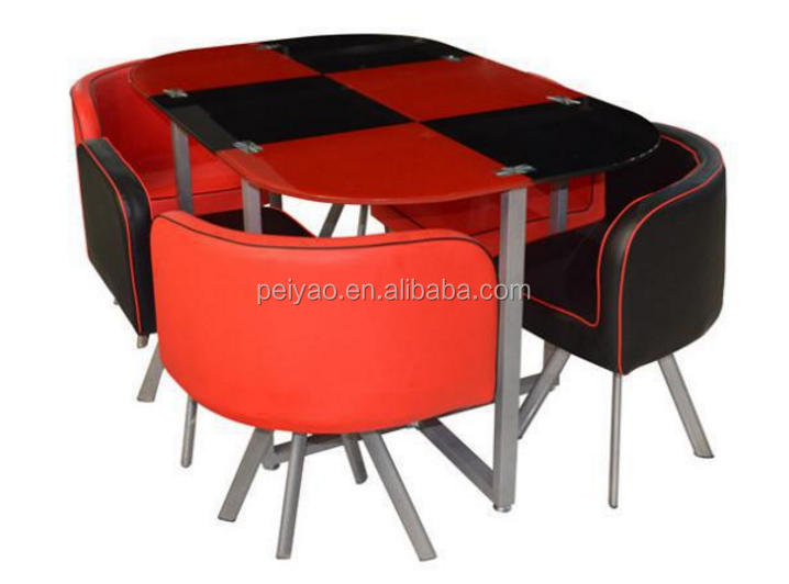 Modern square glass philippine dining table set