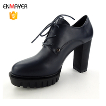 famous brand wholesale patent leather chunky heel sexy fashion high heel shoes