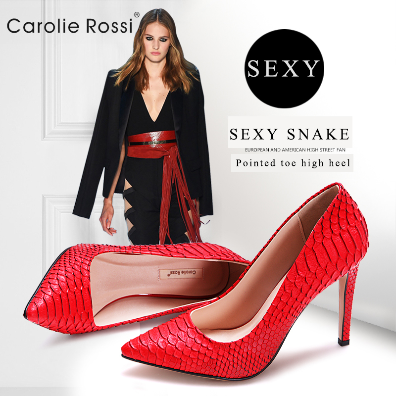2016 latest snake women shoes sexy high heels