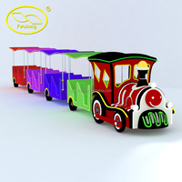 Fwulong amusement park FRP body electric train,Tourist road train for cheap sale