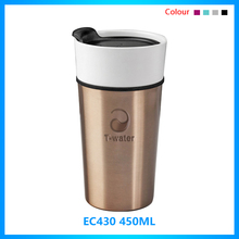 Wholesale 16OZ customizable plastic silicone lid dunk desk ceramic coffee mug without handle for office