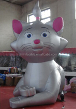 Giant inflatable decorative cat with crown