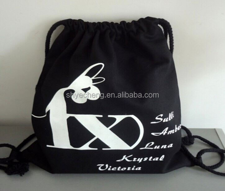 high quality custom fancy cotton promotion gift pouch drawstring cotton bag (YC3969)