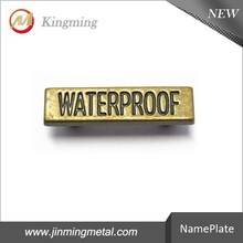 25mm Brass Engraved Logo Plate For Shoe