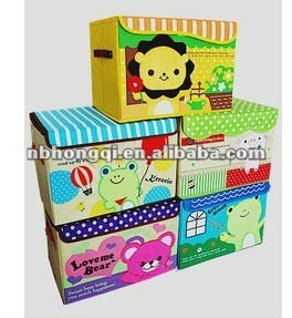 High quality cartoon oxford Kids Toy Storage box