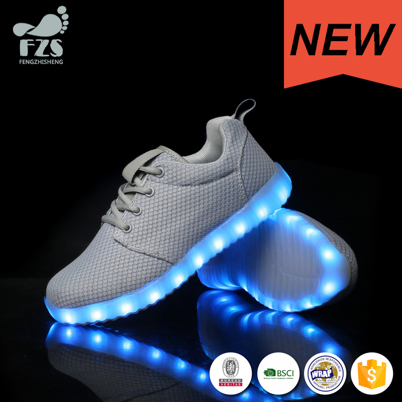 HFJH404 comfortable hot sell casual shoes led running shoes for women