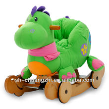 Removable and washable Rocking Dinosaur present gift plush rocking horse toy
