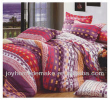 microfiber fabric 3 pieces bedding set with print pattern