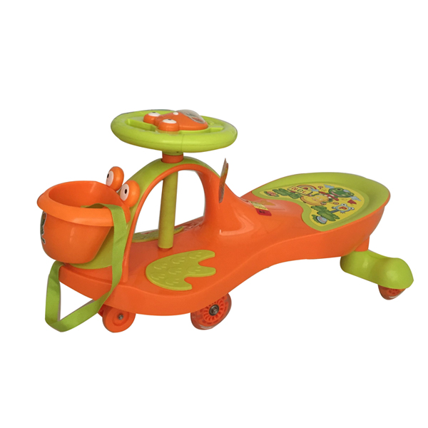 Cute kids silent swing car,twist car as present