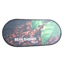 Custom wholesale advertising golf flag oval pop up a frame bean banner
