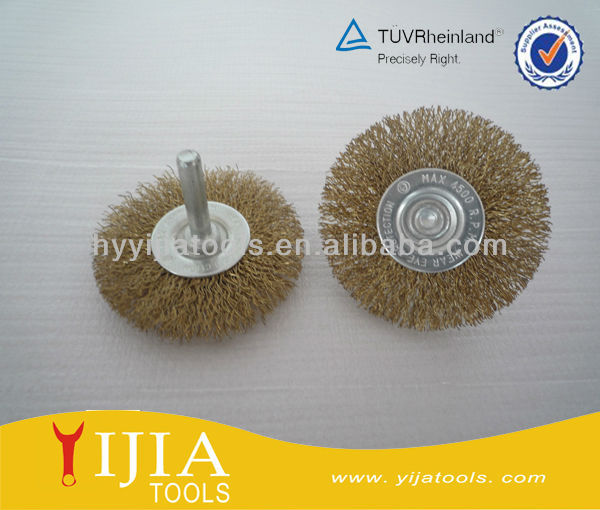 shaft wheel brushes with screw and nut