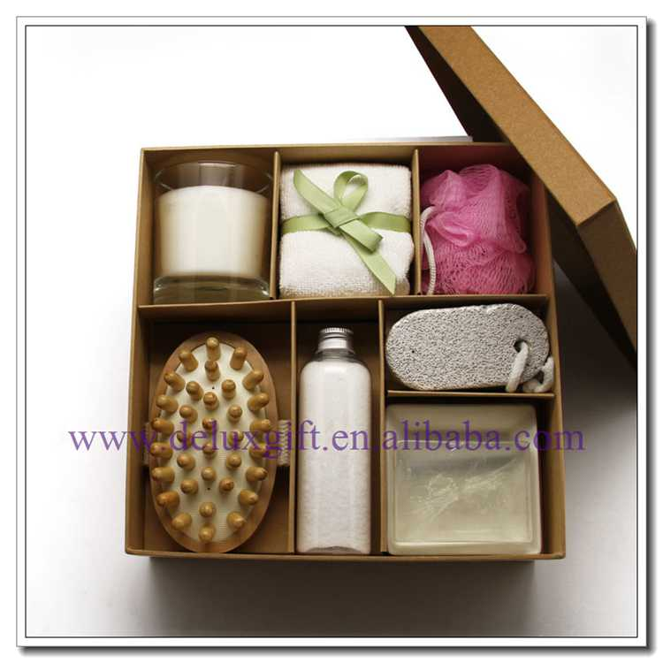 Promotional body and spa bath gift set for Brazil Market