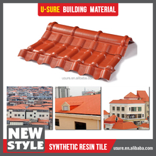 Europe Style Synthetic Spanish building materials plastic roofing tile