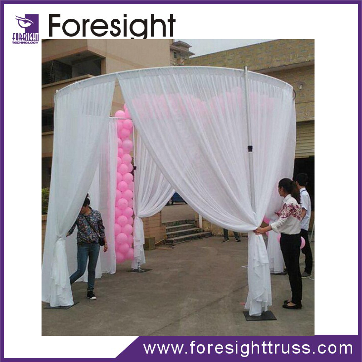 New design aluminum backdrop stand pipe and drape for wedding backdrop