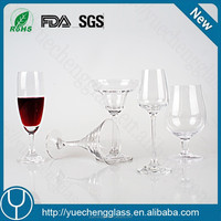 Drinking glass cup mini water goblet glass