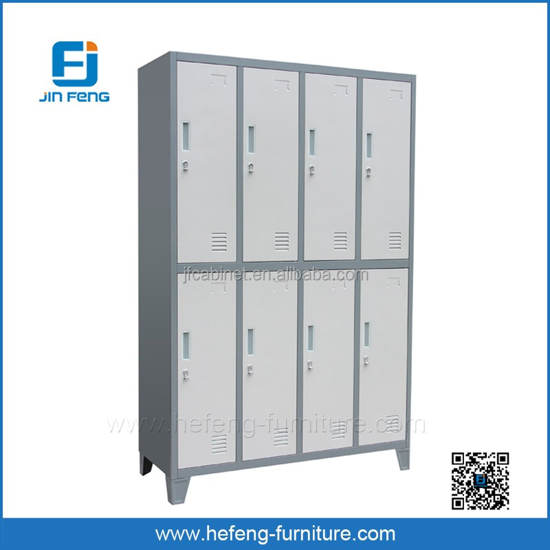 Knock Down 8 Doors Steel Clothes Hanging Sports Lockers from Factory