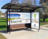 JINKE Unbelieveable Bus Stop Shelter--Outdoor Public Urban Suburn Application Advertising Billboard Bus Shelter Station