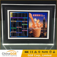 Advertising Acrylic LED Light Box Material