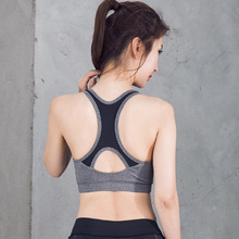 Women's High Impact Running Bra Padded Racerback Sexy Sports Bra