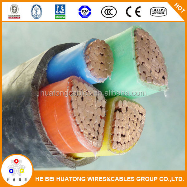 High quality cu / xlpe / pvc insulated electrical power cable